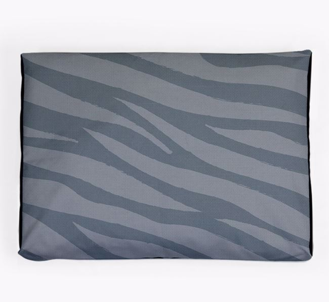 Personalised 'Zebra Print' Dog Bed for your Toy Poodle