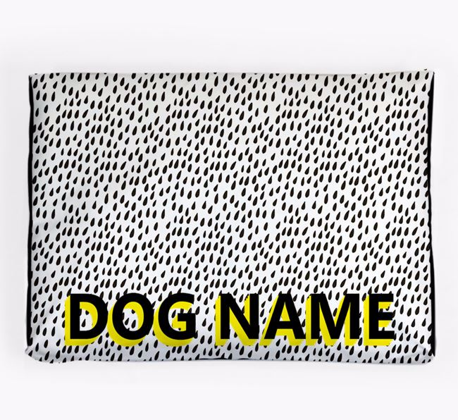 Personalised 'Raindrop' Pattern Dog Bed for your Airedale Terrier