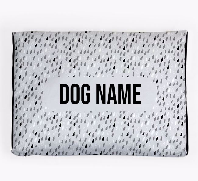 Personalised Raindrop Design Dog Bed for your Dog