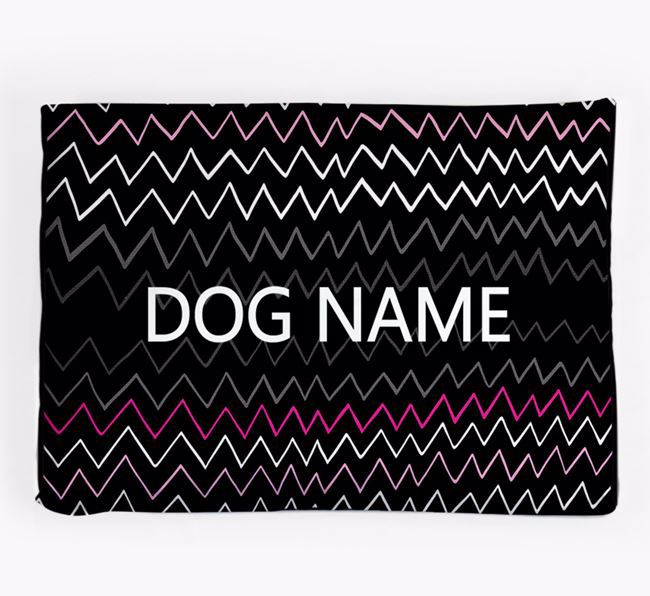 Personalised 'Zig-Zag Design' Dog Bed for your Mexican Hairless
