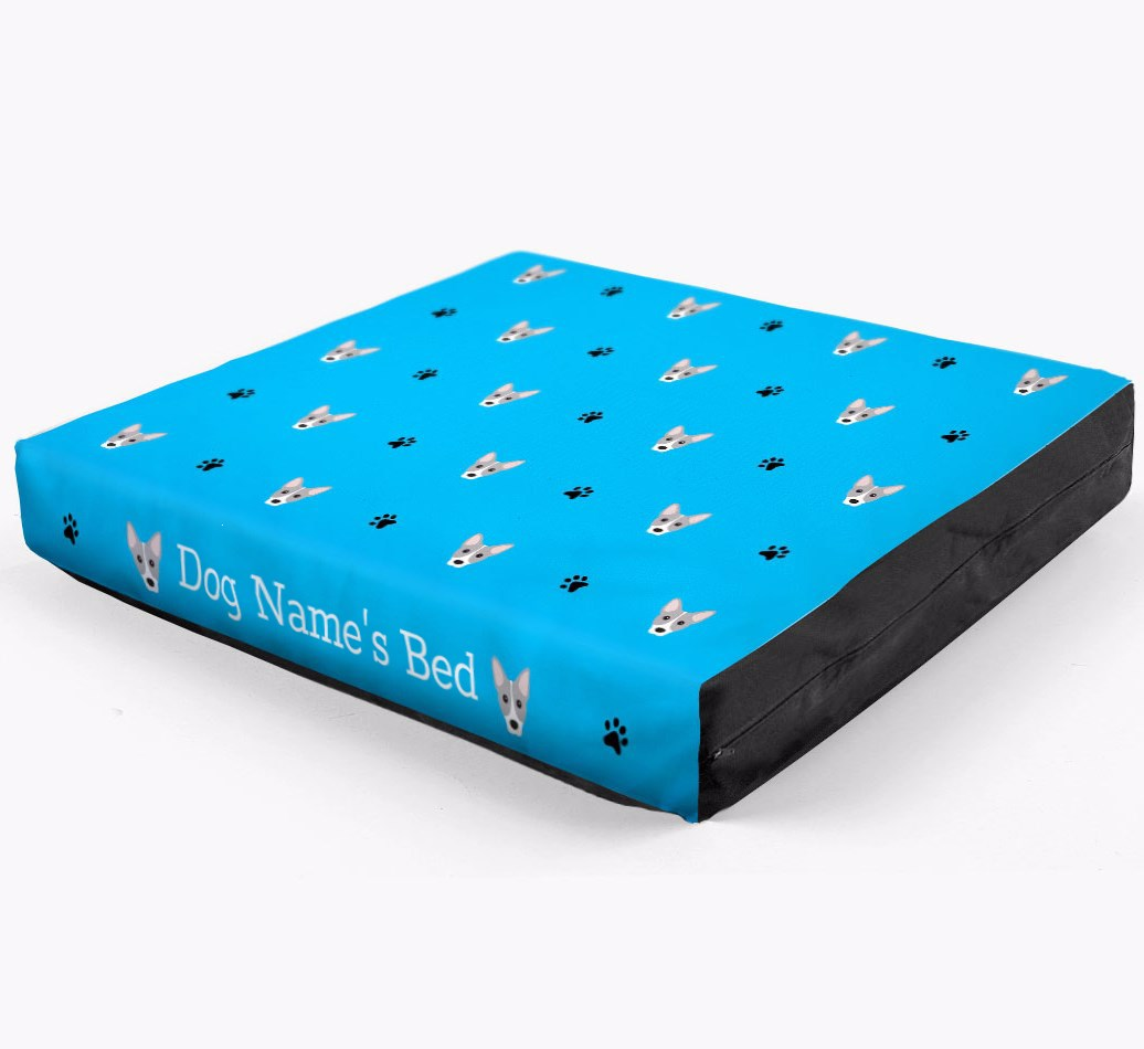 Personalised Dog Bed with Cojack Icon Pattern