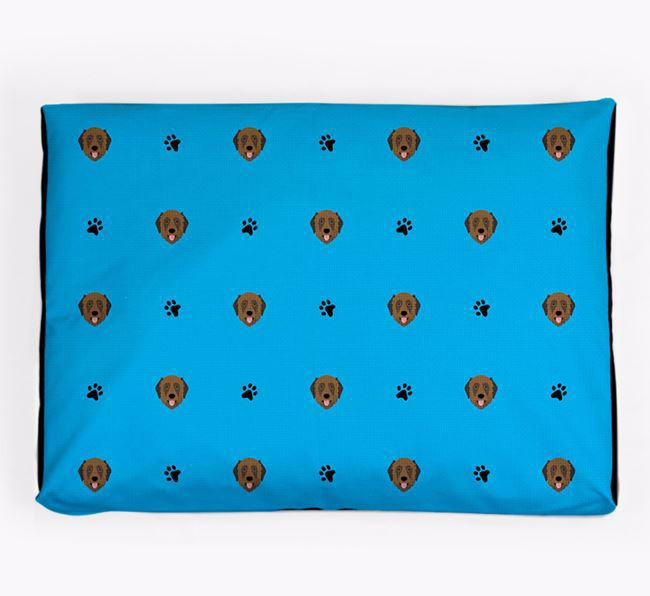 Personalised Dog Bed with Estrela Mountain Dog Icon Pattern