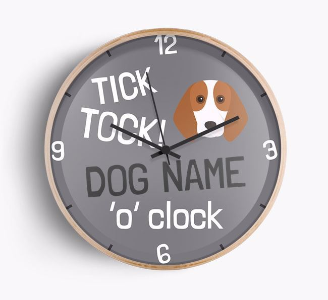 Personalised 'Your Dog 'O' Clock' Wall Clock