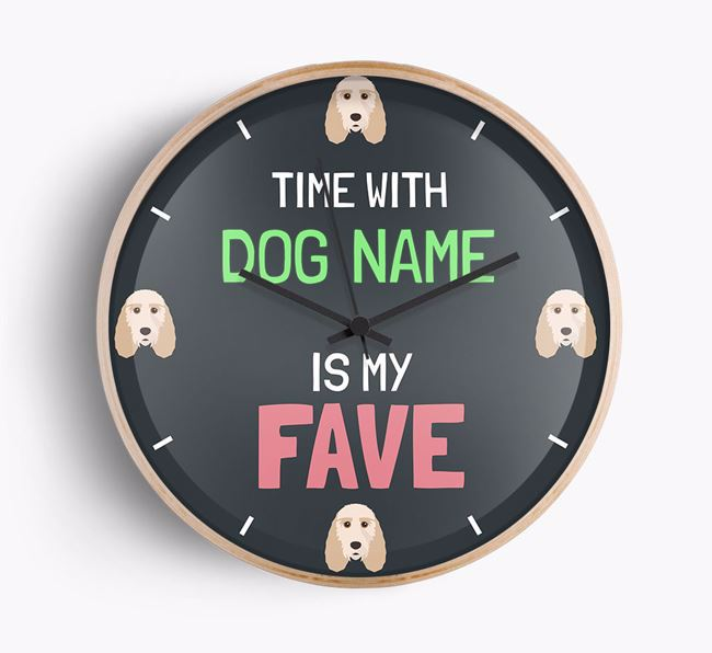 Personalised 'Time with Your Dog Is my fave' Wall Clock