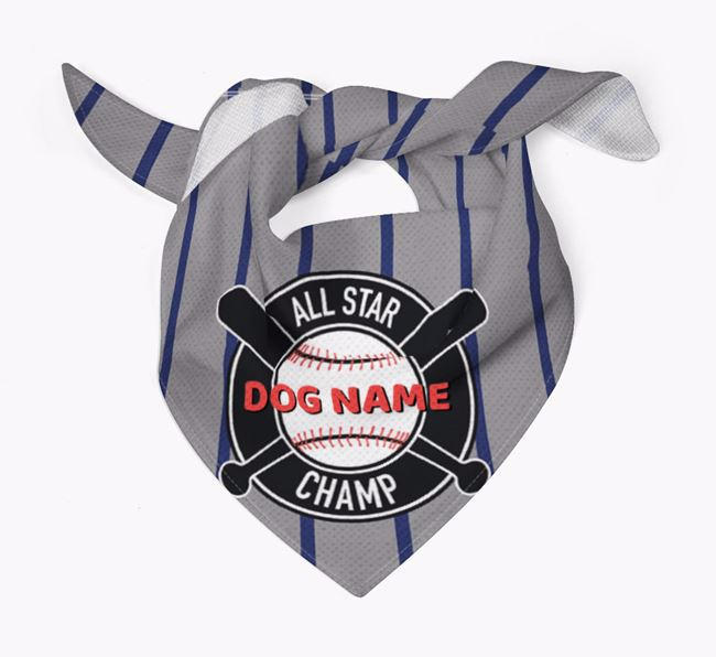 Personalized All Star Champ Bandana for your Flat-Coated Retriever