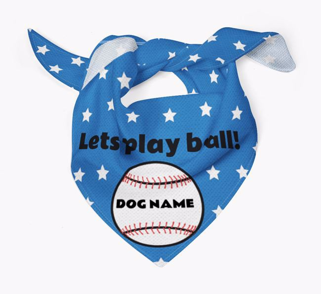 Personalized 'Lets Play Ball' Bandana for your Keeshond