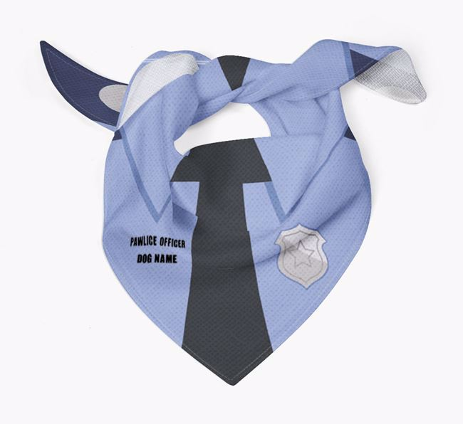 Personalized Pawlice Officer Bandana for your Dog