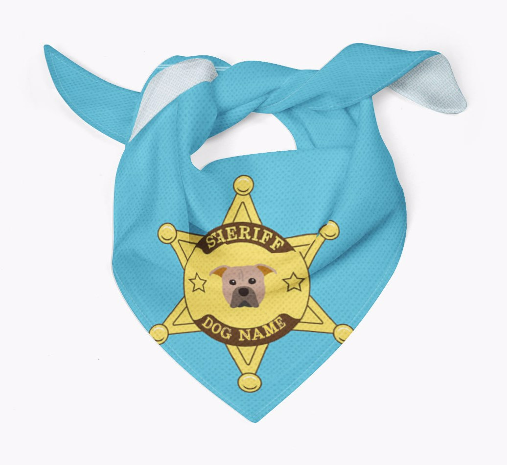 Personalised Sheriff Bandana for your American Pit Bull Terrier