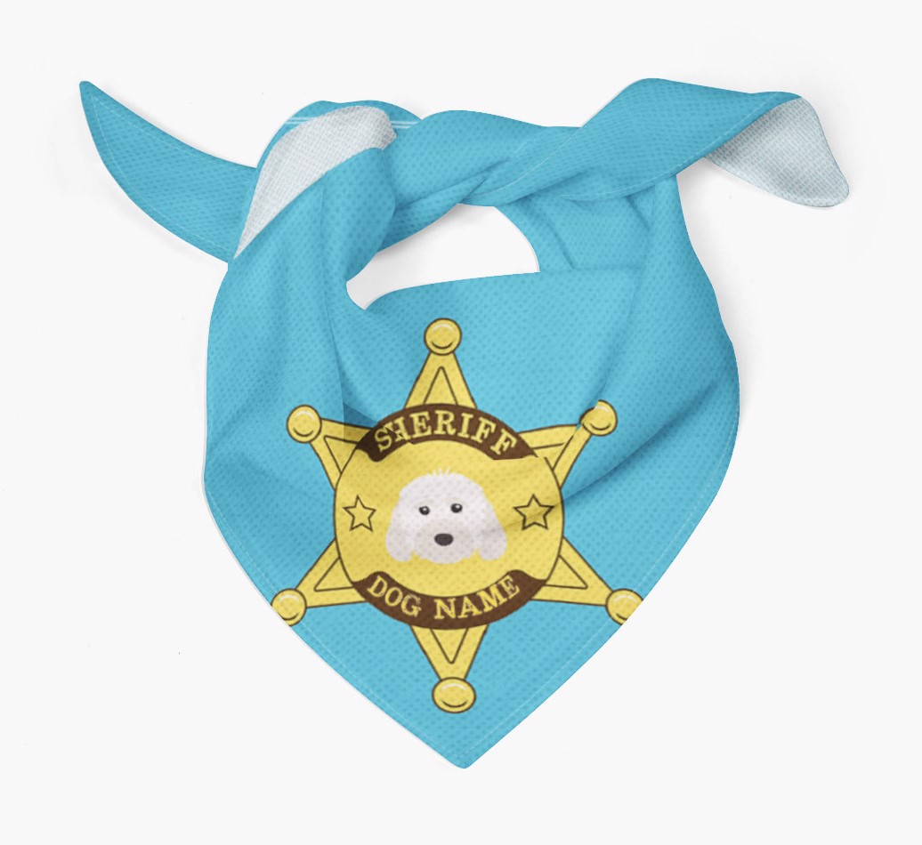 Personalised Sheriff Bandana for your Cockapoo