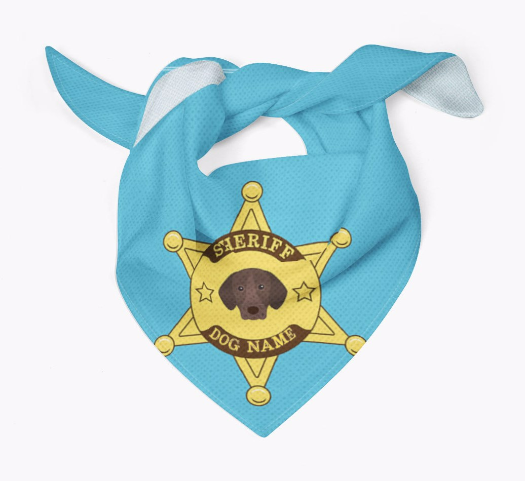Personalised Sheriff Bandana for your German Shorthaired Pointer