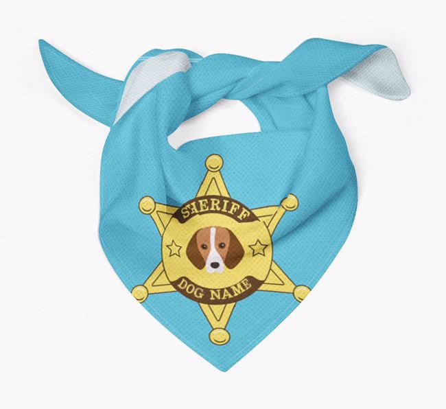Personalized Sheriff Bandana for your Harrier