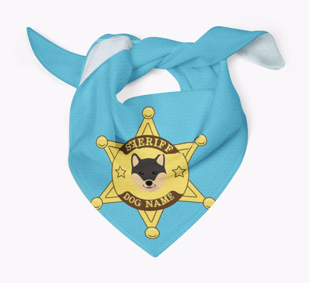 Personalised Sheriff Bandana for your Japanese Shiba