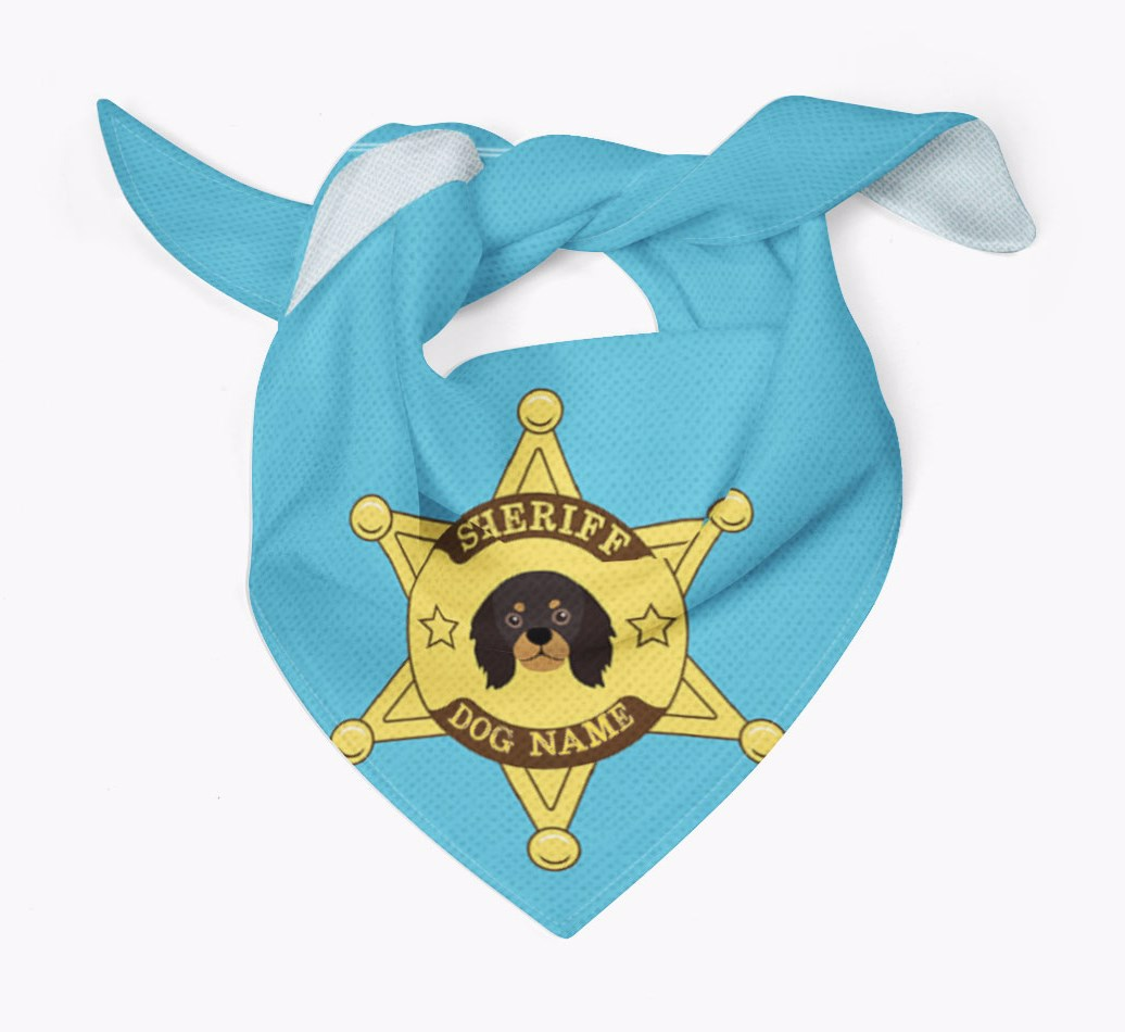 Personalised Sheriff Bandana for your King Charles Spaniel