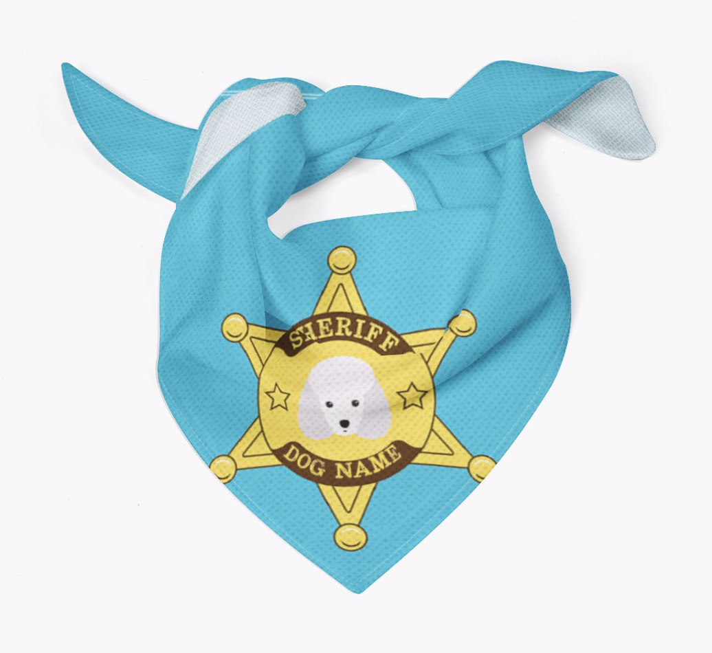 Personalised Sheriff Bandana for your Miniature Poodle
