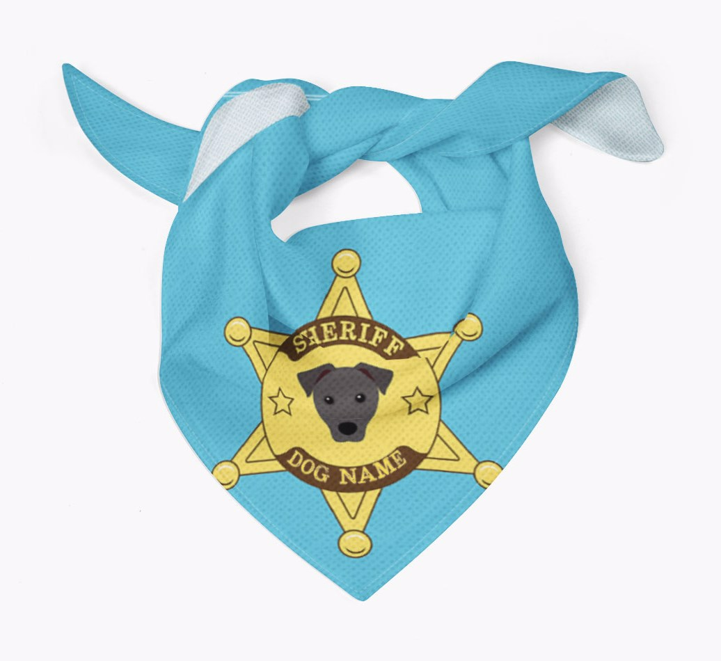 Personalised Sheriff Bandana for your Patterdale Terrier