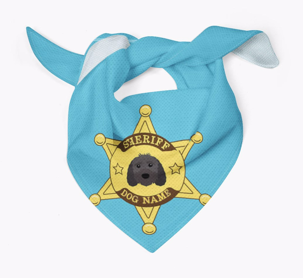 Personalised Sheriff Bandana for your Sproodle