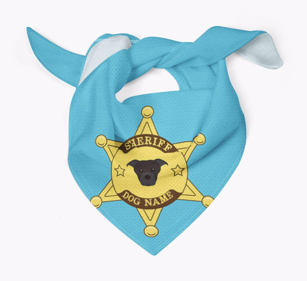 Personalised Sheriff Bandana for your Staffordshire Bull Terrier