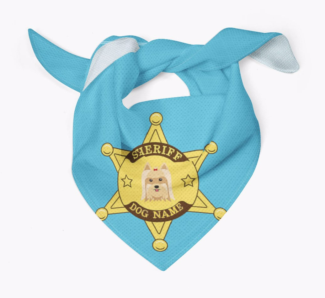 Personalised Sheriff Bandana for your Yorkshire Terrier