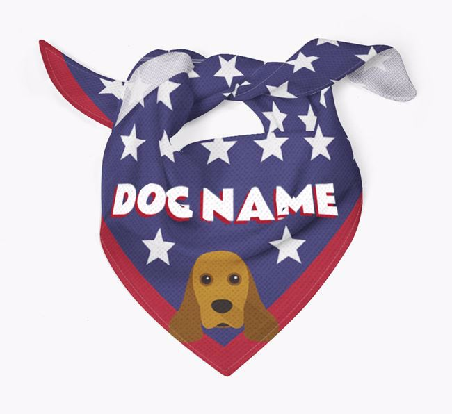 Personalized Stars Bandana for your American Cocker Spaniel