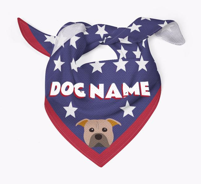 Personalized Stars Bandana for your American Pit Bull Terrier
