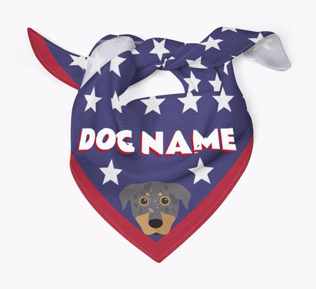 Personalized Stars Bandana for your Beauceron