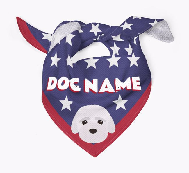 Personalized Stars Bandana for your Bich-poo