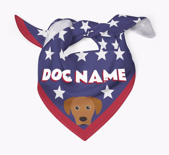 Personalized Stars Bandana for your Blue Lacy