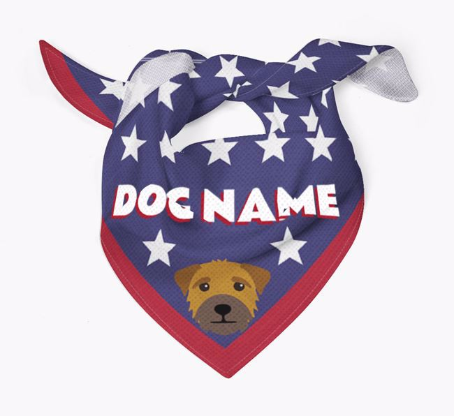 Personalized Stars Bandana for your Border Terrier
