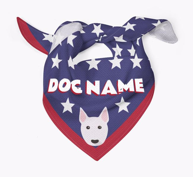 Personalized Stars Bandana for your Bull Terrier