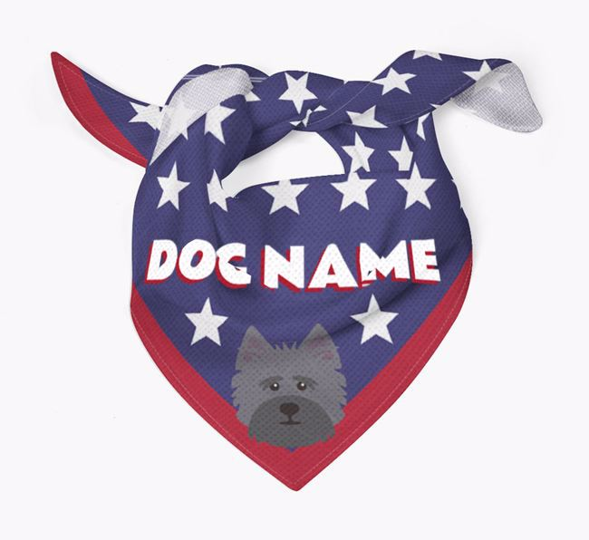 Personalized Stars Bandana for your Cairn Terrier