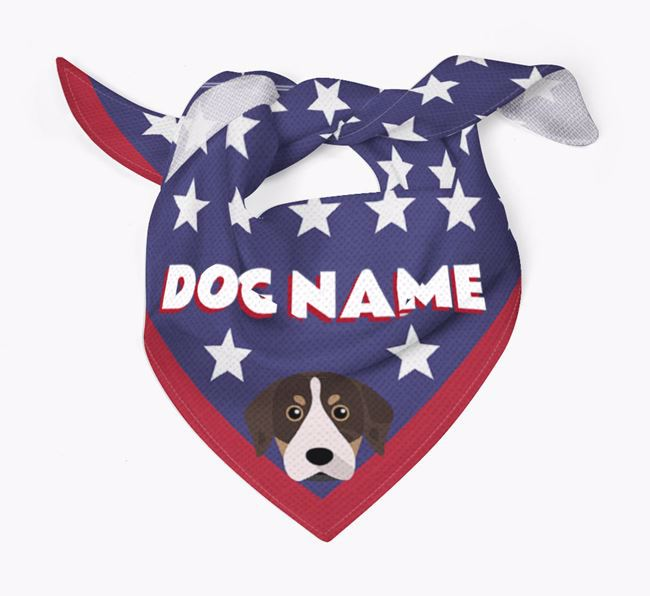 Personalized Stars Bandana for your Catahoula Leopard Dog
