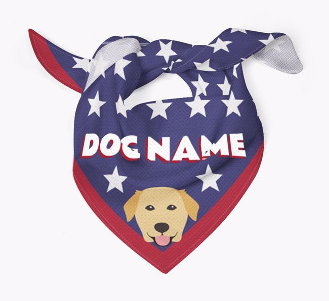 Personalized Stars Bandana for your Golden Labrador
