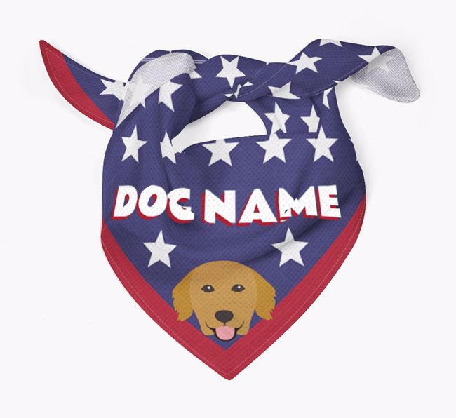 Personalized Stars Bandana for your Golden Retriever