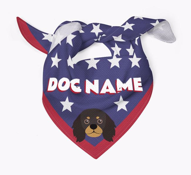 Personalized Stars Bandana for your King Charles Spaniel