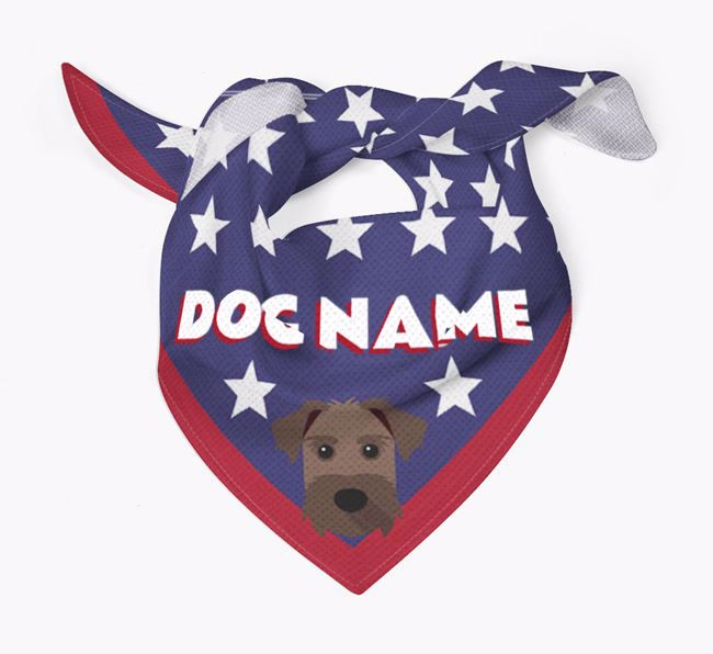 Personalized Stars Bandana for your Patterdale Terrier
