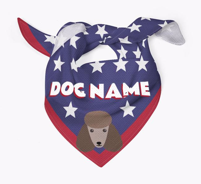 Personalized Stars Bandana for your Poodle