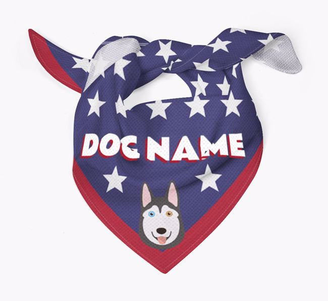 Personalized Stars Bandana for your Siberian Husky