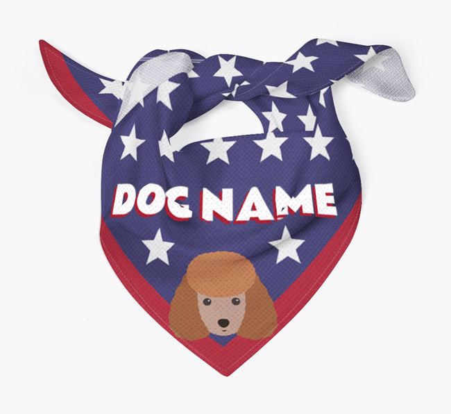 Personalized Stars Bandana for your Toy Poodle