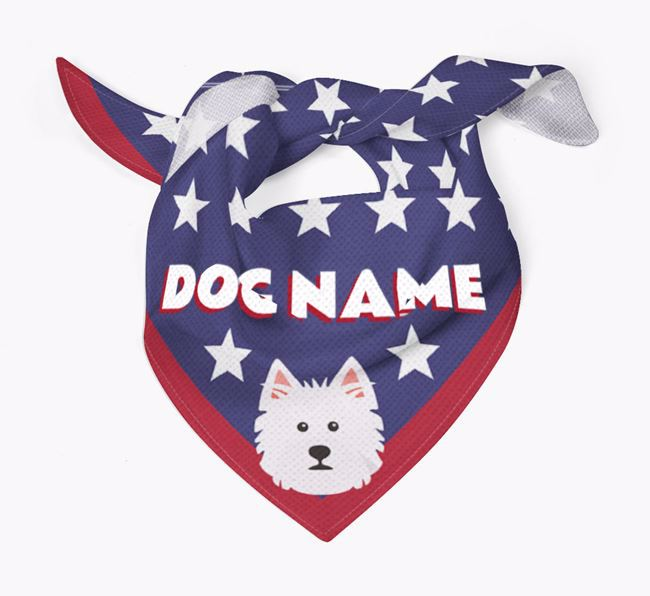 Personalized Stars Bandana for your West Highland White Terrier