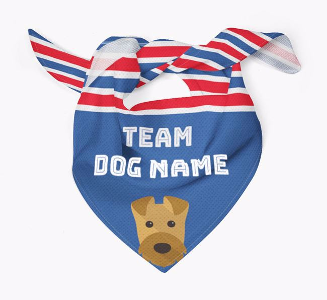 Personalized Team Bandana for your Airedale Terrier