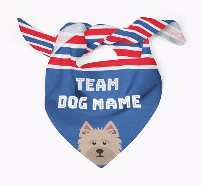 Personalized Team Bandana for your Cairn Terrier