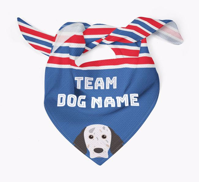 Personalized Team Bandana for your English Setter