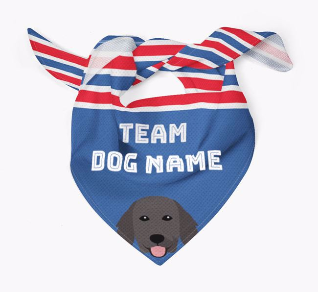 Personalized Team Bandana for your Flat-Coated Retriever