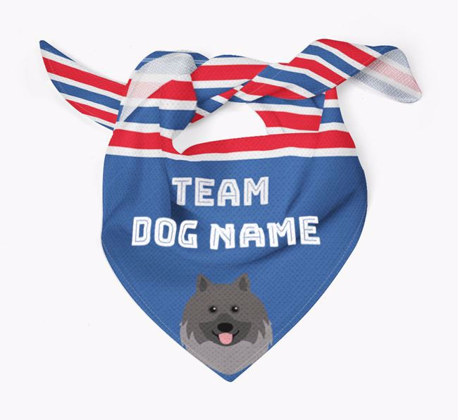 Personalized Team Bandana for your Keeshond