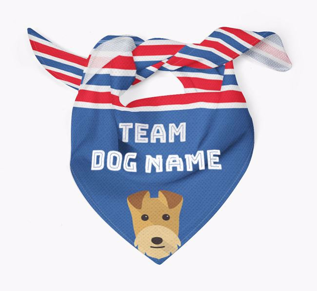 Personalized Team Bandana for your Lakeland Terrier