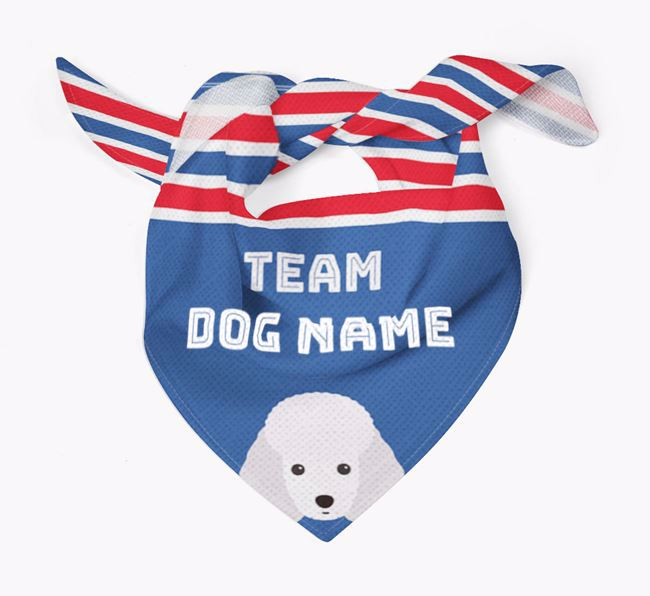Personalized Team Bandana for your Miniature Poodle