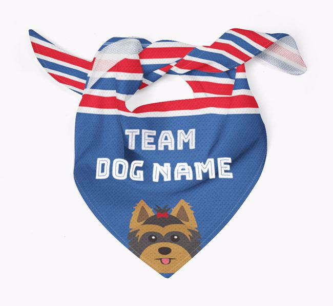 Personalized Team Bandana for your Yorkshire Terrier