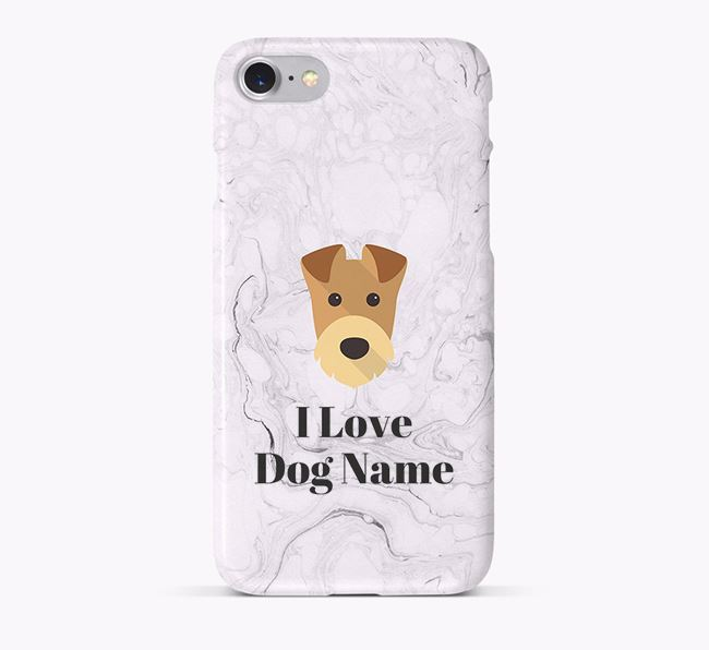 'I Love Your Dog' Phone Case with Airedale Terrier Icon