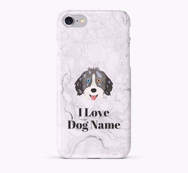 'I Love Your Dog' Phone Case with Aussiedoodle Icon
