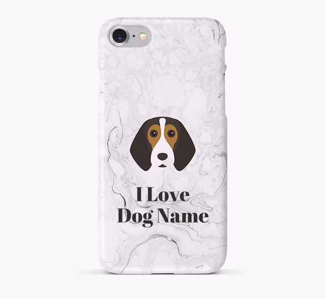 'I Love Your Dog' Phone Case with Beagle Icon